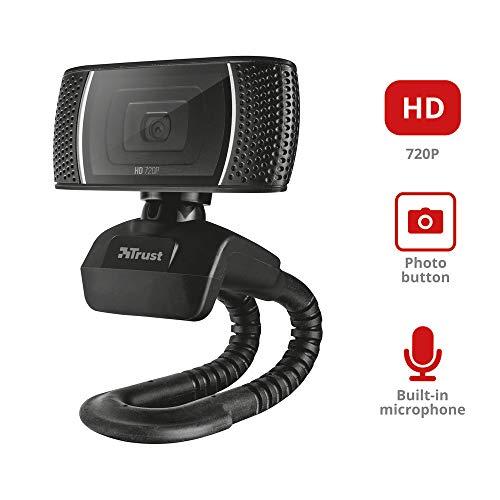 Trust Trino - Webcam (Micrófono Incorporado), Negro miniatura