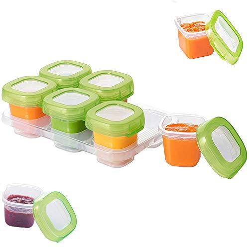 Mydio baby voedsel diepvriezer kubus trays, baby spenen voedsel kubussen lade Potten, diepvriezer voedsel opslag containers, Mini voedsel Seal Box met deksel voor zelfgemaakte babyvoeding, groenten fruit Purees, BPA-vrij