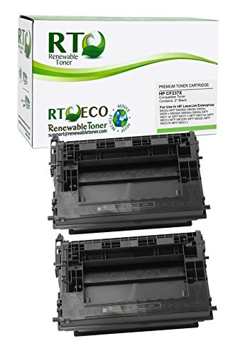 Renewable Toner Compatible Toner Cartridge High Yield Replacement for HP 37X CF237X Laserjet Enterprise MFP M631 M632 M633 M607 M608 M609 (Black, 2-Pack)