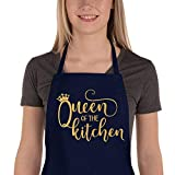 Saukore Funny Apron for Women, Cute Kitchen Chef Aprons with 2 Pockets for Cooking Baking - Fun Birthday Gifts for Mom Wife Girlfriend Aunt Grandma