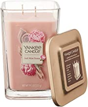 Yankee Candle Elevation Collection with Platform Lid Salt Mist Peony Scented Candle, Large 2-Wick, 80 Hour Burn Time
