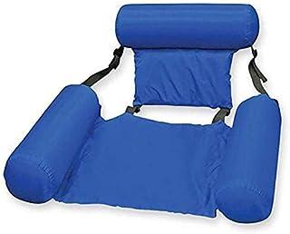 Echden Colchoneta hinchable para piscina 4 en 1, colchón de aire plegable para piscina para adultos y niños