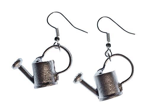 Miniblings Gießkanne Ohrringe Frühling Gärtnern Gärtnerin Garten klein Metall - Handmade Modeschmuck I Ohrhänger Ohrschmuck versilbert