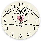 芸術創作はあなたに私を加えることは愛に等しい PVC時計 目盛り付き 時計 オフィス 居間 装飾 ファッション壁時計