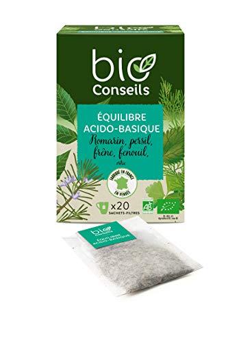 BioConseils - Infusion équilibre acido-basique bio – tisane détox bio ortie romarin fenouil bio d'origine française - 20 sachets
