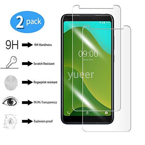 yueer [2 Stücke Panzerglas Schutzfolie für Wiko Y70,[Anti- Kratzer] [Ultra Clear] Panzerglasfolie Bildschirmschutzfolie Folie für Wiko Y70.