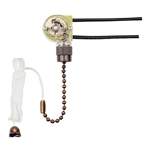 Westinghouse Lighting 7728700 Fan Light Switch with Antique Brass Pull Chain