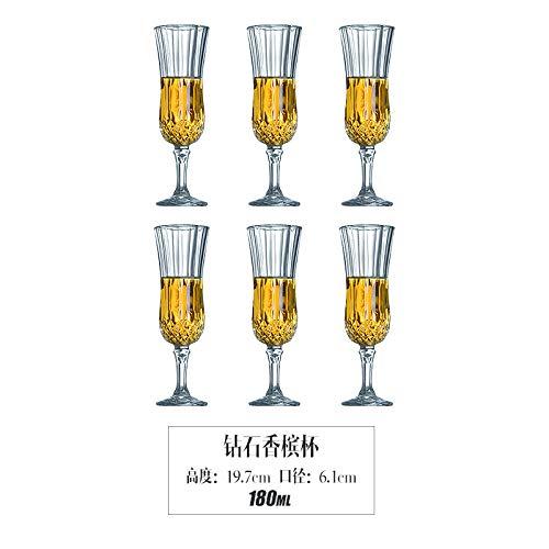 Luxury glas creatief loodvrij kristalglas diamant rode wijn mok set Continental huishouden grote wijnglas beker