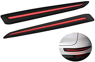 LLJSTAT Universal Black Anti-Collision Patch Bumper Guard Strip Anti-Scratch Bumper Protector Trim for Cars SUV Pickup Truck (2 Pack)