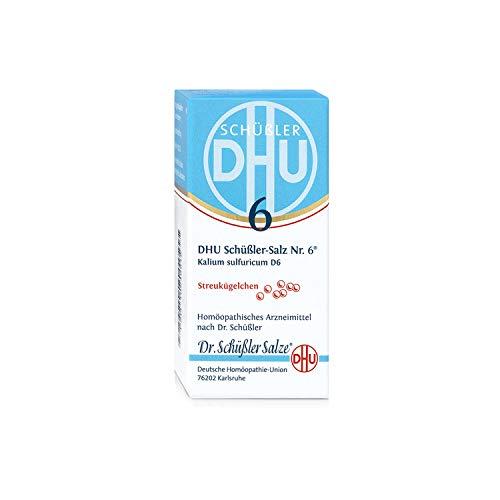 DHU Schüßler-Salz Nr. 6 Kalium sulfuricum D6 Streukügelchen, 10 g Globuli