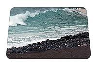 26cmx21cm マウスパッド (大西洋岩ビーチ波) パターンカスタムの マウスパッド
