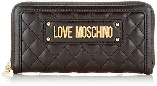 Love Moschino Damen Quilted Nappa Pu Geldbeutel, Schwarz (Nero), 15x10x15 Centimeters