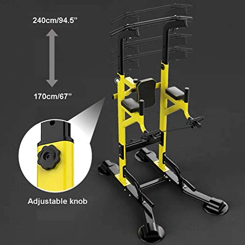 Product Image 2: Fitness equipment Pull-up Bars Free Standing Stand Dip Station Power Tower Pull-up Bar Strength Training for Home Gym 990 Weight Capacity (Size : A-Black)