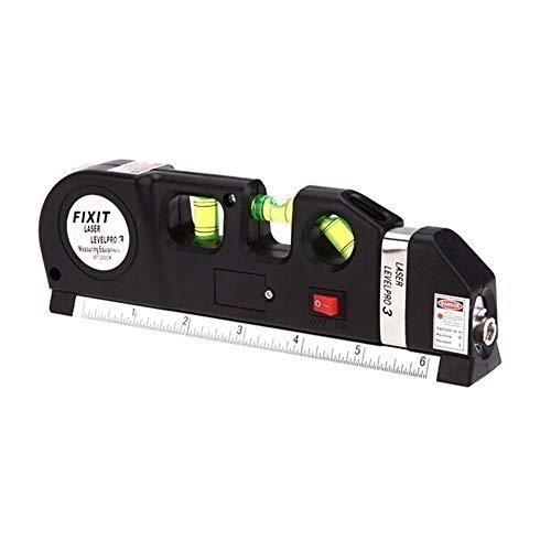 Hot 1Pc multifunctionele aangepast 2 lijnen niveau laser metrische linialen Horizon verticale meetlint meetinstrument met statief