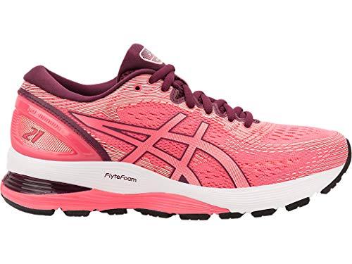 ASICS Women's Gel-Nimbus 21 Shoes, 9.5M, Pink Cameo/BAKEDPINK