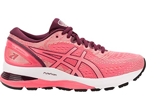 ASICS Women's Gel-Nimbus 21 Running Shoes, 7M, Pink Cameo/BAKEDPINK