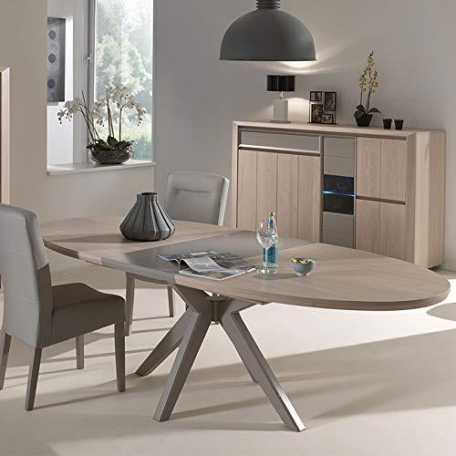 M-128 Esszimmer-Set, modernes Design, Holz, Taupe