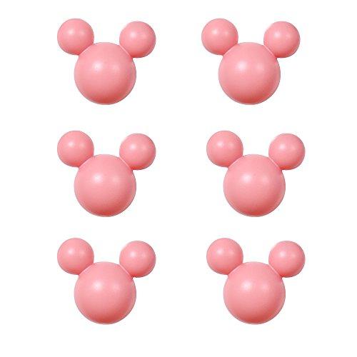 アルファタカバ ディズニー ミッキー取っ手シリーズ ツマミつまみ 6個セット ピンク