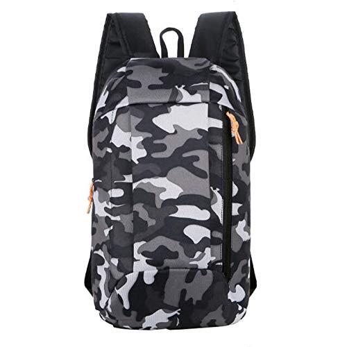 Sac à dos de camouflage léger et pliable de 10 l pour le sport, le fitness, la randonnée, le camping, les vacances, le shopping, les trajets - Noir - Noir , Taille unique