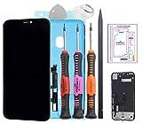 Trop Saint® Vetro Schermo Nero per iPhone XR - Ricambio Completo LCD Display - Kit di Rip...