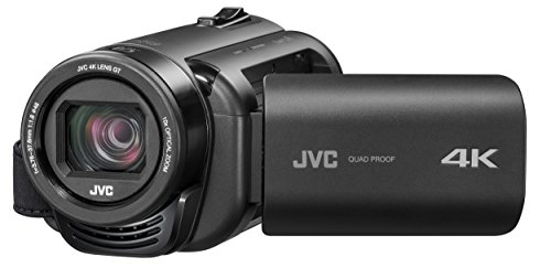 JVC GZ-RY980HEU 4K Qutdoor Camcorder mit QUAD PROOF-Gehäuse (wasserdicht, staubdicht, stoßfest, frostbeständig) und 2-fach SD-Kartenslot, anthrazit-schwarz