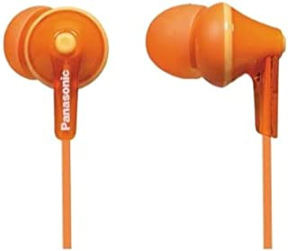 Panasonic RP-HJE125E-D In-ear hoofdtelefoon (drie paar paspoortstukken, 10-24.000 Hz, 1,1 m kabel) oranje