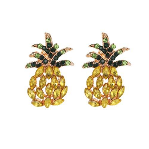 Lfny-bag Ohrringe, Ananas-Ohrringe Bolzen-Ohrringe für Frauen gemacht mit Sekt Starlight Kristall hypoallergen & Nickel frei Schmuck Ohrringe Gold für Frauen-Mädchen,Gold