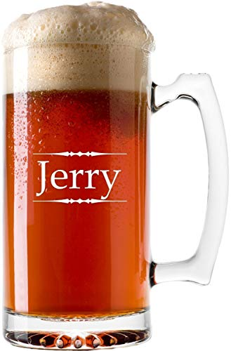 Personalized Beer Mug with Custom Laser Engraving, Two Size Options - BG04