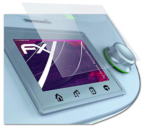 atFoliX Lámina Protectora de plástico Cristal Apto para Vorwerk Thermomix® TM5®, Película...