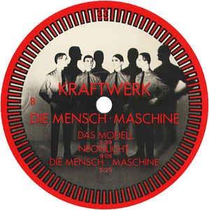 """KRAFTWERK / DIE MENSCHEN-MASCHINE / 1978 / Bildhülle mit illustrierter Innenhülle / EMI # 1C 058-32 843 / 05832843 / Deutsche Pressung / 12"""" Vinyl Langspiel-Schallplatte - 5"""