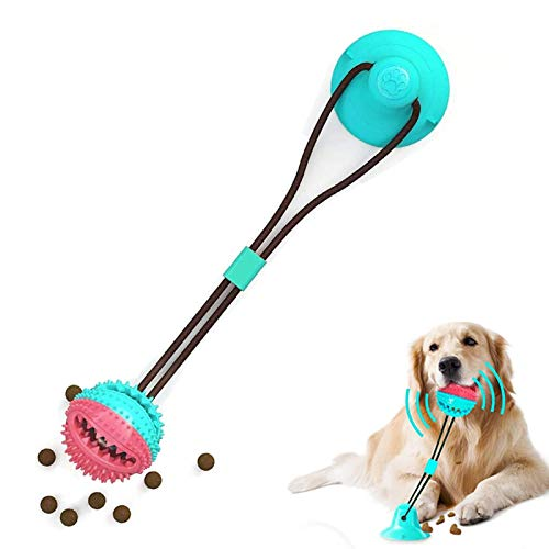 Juguete molar para mascotas multifuncional,Juguete mordedor para mascotas,Juguete para perros con ventosa,Pelota de limpieza de juguete molar para mascotas,Juguete para morder perro mascota (Color)