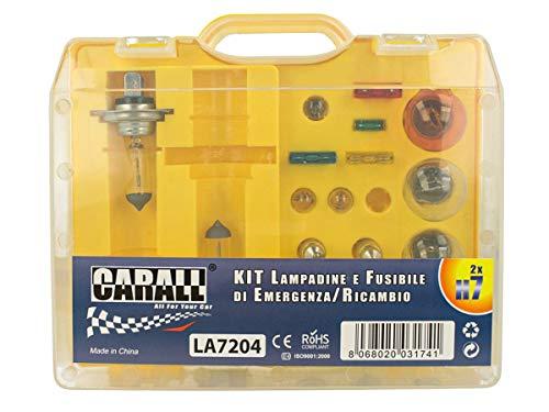 CARALL Kit bombillas de repuesto,Kits de bombillas universales,Coche Bombilla Set Con Fusibles (H7 12V55W X2)
