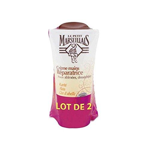 Le Petit Marseillais Crème Mains Réparatrice Peaux Abimées Et Desséchées, Beurre De Karité, Aloes Et Cire D'Abeille, 75Ml - Lot De 2 75 millilitre