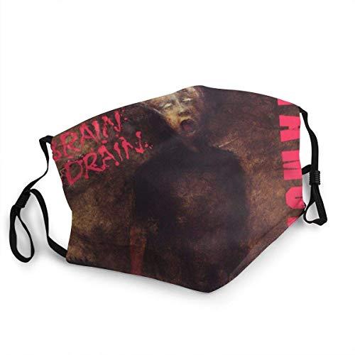 Ramones Brain Drain Unisex con Filtro Antipolvo Lavable Reutilizable Boca Cubierta de Cara a Prueba de Viento Caliente con pasamontañas Ajustable Cubierta de Cara Pasamontañas