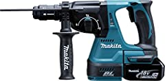 Makita Battery Combi Hammer voor SDS-Plus, (18 V, 5.0 Ah in Makpac inclusief 2 batterijen en oplader), DHR243RTJ*