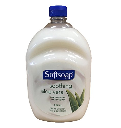 Price comparison product image Softsoap Hand Soap Soothing Aloe Vera Moisturizing Hand Soap Refill 64 Fluid Ounce Bottle
