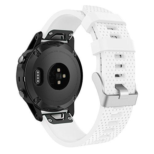 MoKo Correa de Reloj para Garmin Fenix 5S/Fenix 5S Plus/Fenix 6S/Fenix 6S Pro/D2 Delta S, 20mm Quick Fit Banda de Reloj de Repuesto de Silicona Suave, Ajuste 5.31
