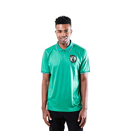 Ultra Game NBA Boston Celtics Mens Moisture Wicking Tech Polo Shirt, Team Color, X-Large