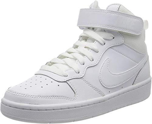 Nike Court Borough MID 2 (GS) Sneaker, White/White-White, 39 EU