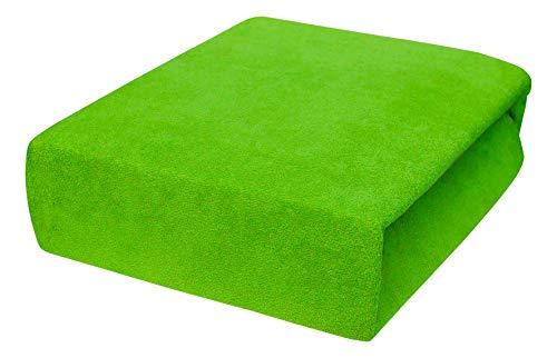 Drap housse avec élastique éponge 90x160, 90x180, 90x200 - 23 Farben 90x180, green Apple