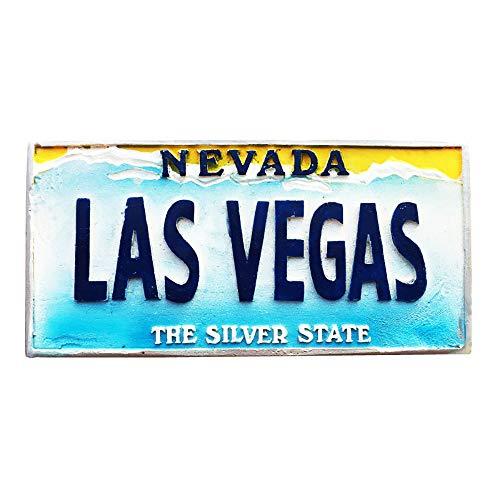 Las Vegas Nevada 3D USA Imán para nevera regalo de recuerdo, hecho a mano para decoración del hogar y la cocina Las Vegas colección de imanes