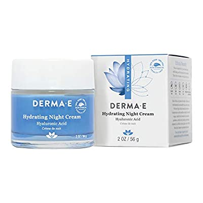 DERMA-E Hydrating Night Cream with Hyaluronic Acid, No Scent, 2 Ounce
