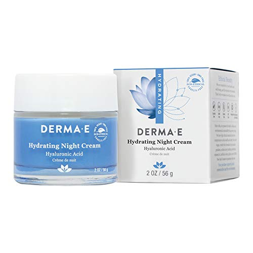 DERMA E Hydrating Night Cream with Hyaluronic Acid 2oz