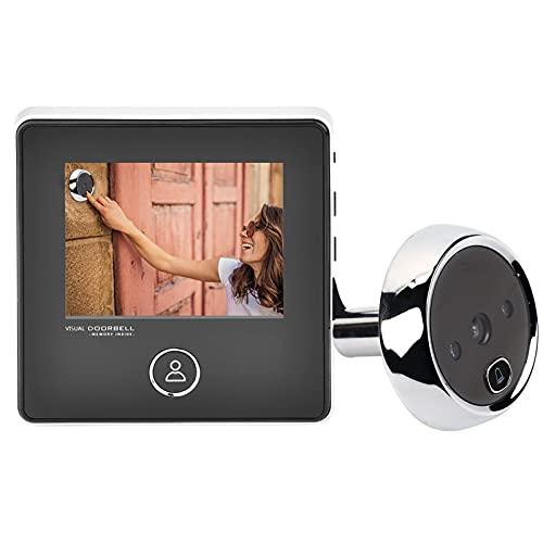 Video Campanello, Citofono Campanello 3' SCHERMO LCD Smart Peephole Visual Campanello Telecamera di Sicurezza 1080p, IR NIGHT VISION, Audio a 2 Vie, Facile da Installare