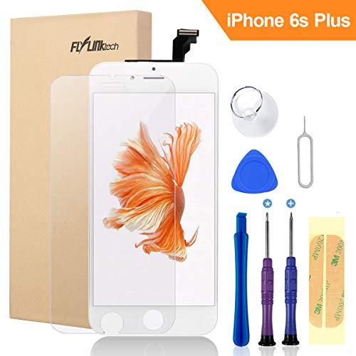 FLYLINKTECH Für iPhone 6S Plus Display Weiß, LCD 3D Touchscreen Digitizer Assembly mit Werkzeuge und Displayschutzfolie Für iPhone 6S Plus Weiß 5.5