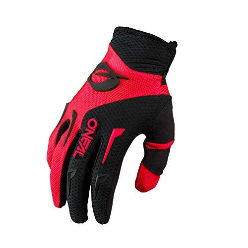 O'NEAL | Fahrrad- & Motocross-Handschuhe | Kinder | MX MTB DH FR Downhill Freeride | Langlebige, Flexible Materialien, belüftete Handinnenfäche | Element Youth Glove | Schwarz Rot | Größe M
