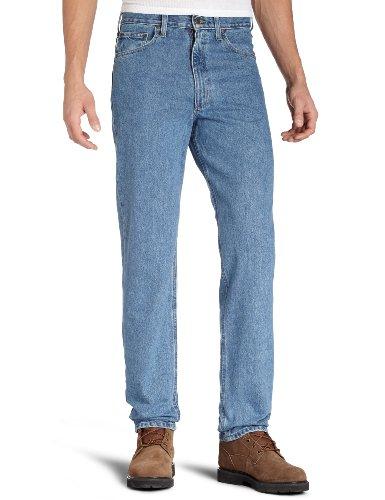 Carhartt Men's Five Pocket Tapered Leg Jean, Stonewash, 38W x 32L