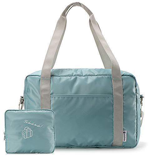 YIICOOLY 折りたたみボストンバッグ 折りたたみ 旅行バッグ トラベルバッグ ボストンバッグ レディース 軽量 防水 キャリーオンバッグ 大容量 機内持込可 スーツケース固定可 旅行 出張 整理用