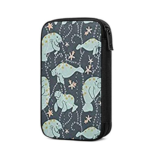 Electronics Organizers, Manatee Animals Print Electronic Accessories Case Portable Cable Storage Bag For Cord,Powerbank,Charger,Earphone,U Disk,Sd Card