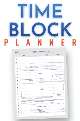 Daily Time Block Planner (A5): Daily Scrum, Time Box Journal, Productivity, To-Do List, Time Management (100 Days)
